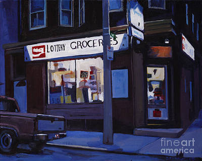 Southie Painting - Last Call by Deb Putnam