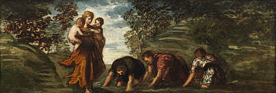 Legend Painting - Latona Changing The Lycian Peasants Into Frogs by Tintoretto