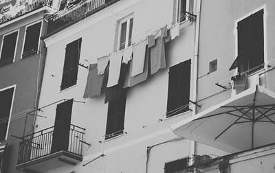 Laundry Day - Cinque Terra Print by Mountain Dreams