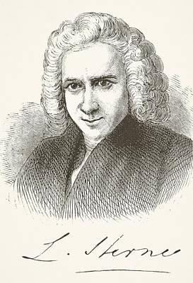 Laurence Sterne 1713 - 1768. English Print by Vintage Design Pics
