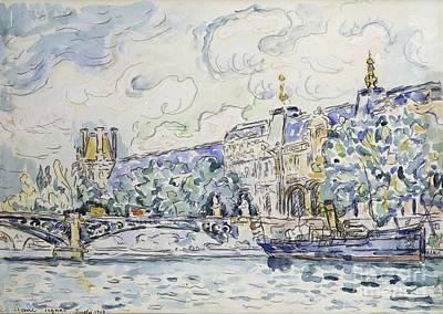 Louvre Painting - Le Palais Du Louvre by Paul Signac