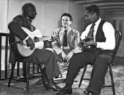 Josh Photograph - Leadbelly, Nicholas Ray, Josh White by Underwood Archives