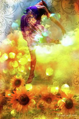 Digital Sunflower Digital Art - Leap Of Faith by Stacy Lee