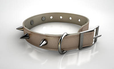 Rivets Digital Art - Leather Studded Collar by Allan Swart