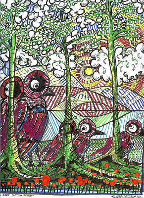 Mature Mixed Media - Leaving The Nest by Robert Wolverton Jr