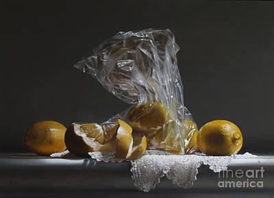 Lemon Painting - Lemons by Larry Preston