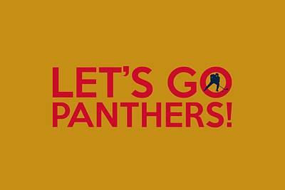 Panther Digital Art - Let's Go Panthers by Florian Rodarte