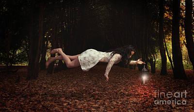 Floating Girl Photograph - Levitation by Amanda Elwell