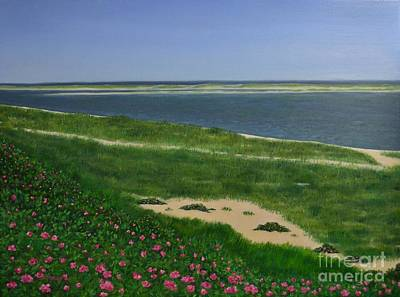 Chatham Harbor Painting - Sea Roses by Michelle Welles