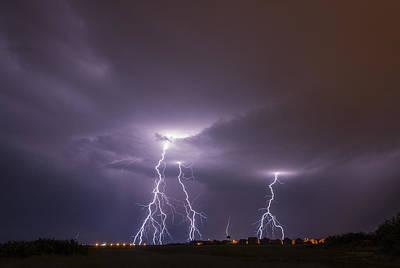 Lightning Photograph - Lightning Storm by Sandra Rugina