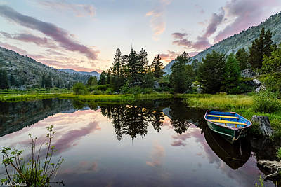 Lily Lake Print by Mike Ronnebeck