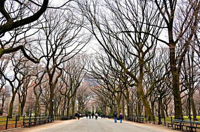 Central Park Photograph - Literary Walk Too by Randy Aveille