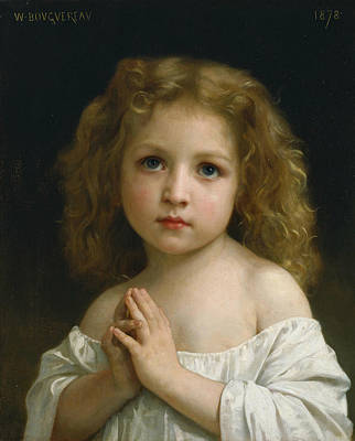 Little Girl Print by William-Adolphe Bouguereau