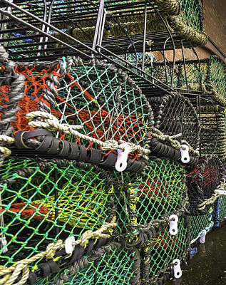 Lobster Pots And Ropes Print by Mike Walker
