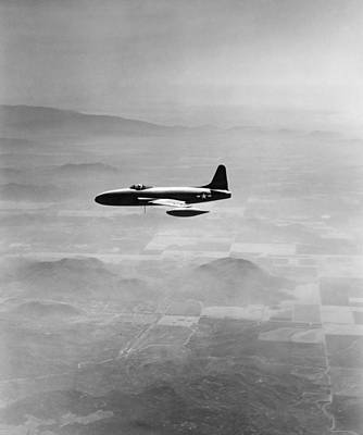 Jet Star Photograph - Lockheed P-80 Shooting Star by Underwood Archives