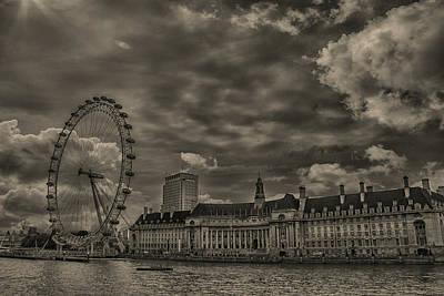 London Eye Photograph - London Eye by Martin Newman