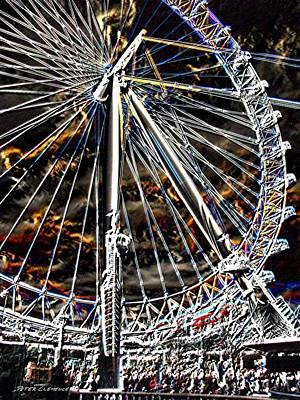 London Eye Digital Art - London Eye by Peter Clemence