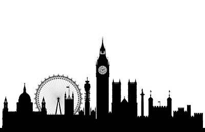 Big Ben Drawing - London by Leon Bonaventura