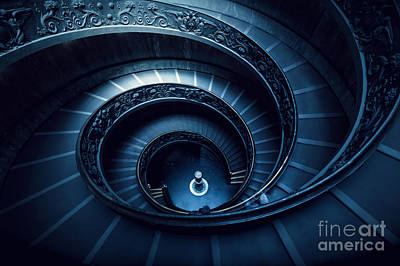 Step Photograph - Long Spiral, Winding Stairs by Michal Bednarek