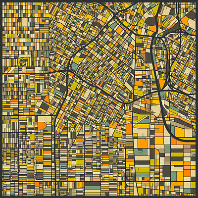 Los Angeles Map Digital Art - Los Angeles Map by Jazzberry Blue