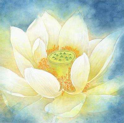 Floral Painting - lotus set NO.3 by Tina Zhou