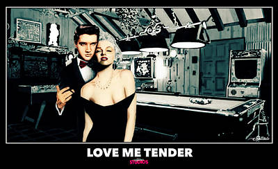 Playboy Drawing - Love Me Tender  by Michael Spatola