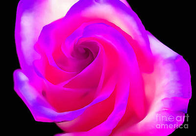 Purple Rose Photograph - Love Of A Lifetime by Krissy Katsimbras