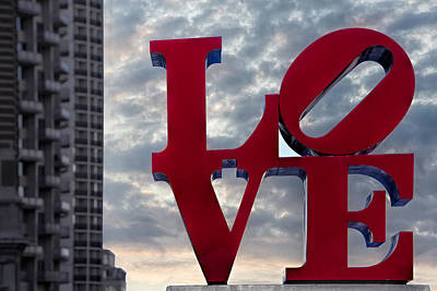 February 14th Photograph - Love Park  by Susan Candelario