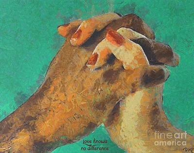 Poster Painting - Lovers by Dragica Micki Fortuna