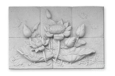Low Relief Cement Thai Style  Print by Phalakon Jaisangat