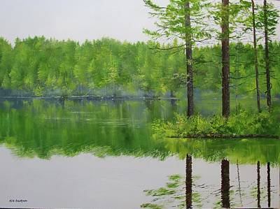 Painting - Lowell Lake by Ken Ahlering
