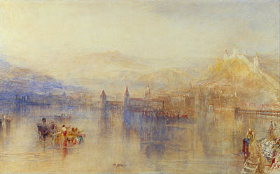 Cityscape Painting - Lucerne From The Lake by JMW Turner
