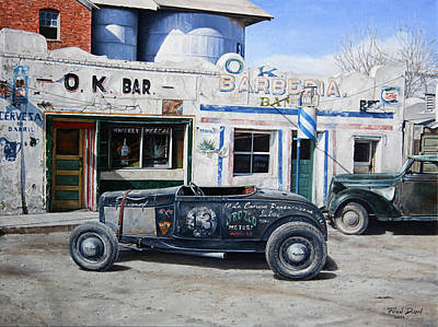 Hot Rod Painting - Lucky 13 by Ruben Duran