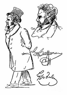 Ludwig Van Beethoven Print by Granger