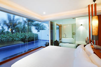 Awake Photograph - Luxury Bedroom by Setsiri Silapasuwanchai