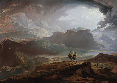 Clouds Painting - Macbeth  by John Martin