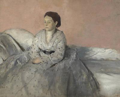 Dot Painting - Madame Rene De Gas by Edgar Degas