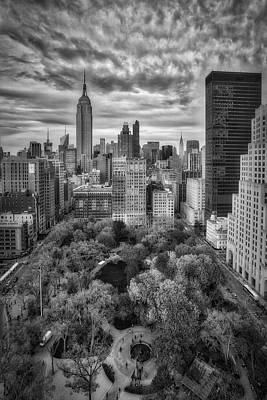 Chrysler Building Photograph - Madison Square Park Aerial View by Susan Candelario