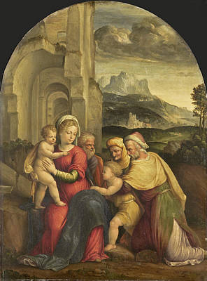 Painting - The Holy Family by Benvenuto Tisi