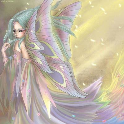 Faery Digital Art - Maiden Of Earth by KimiCookie Williams
