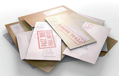 Advice Digital Art - Mail Stack by Allan Swart