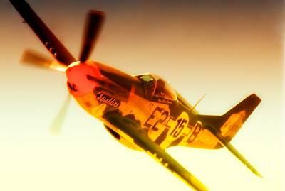 Maj. Chuck Cummins And Chuck Greenhills P-51d Mustang Geraldine Original by Gus McCrea