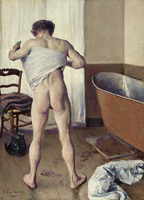 Bath Painting - Man At His Bath by Gustave Caillebotte