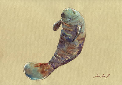 Manatee Painting - Manatee by Juan  Bosco
