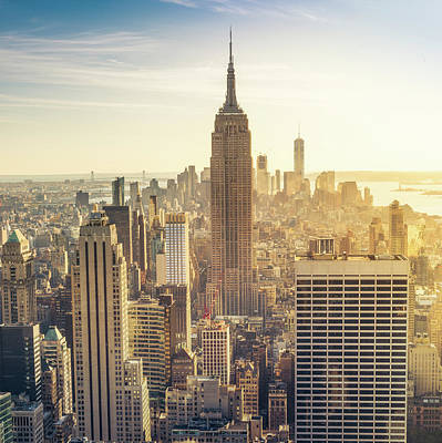 New York Photograph - Manhattan Skyline by Sinitar Photo