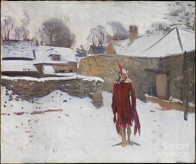 Mannikins Painting - Mannikin In The Snow by Celestial Images