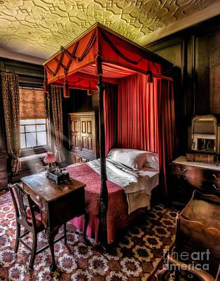 Mansion Bedroom Print by Adrian Evans