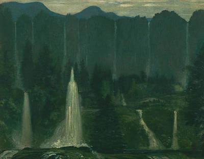 Many Waters Print by Arthur Bowen Davies