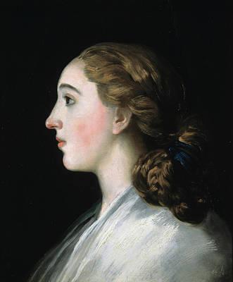 Profile Painting - Maria Teresa De Vallabriga by Francisco Goya