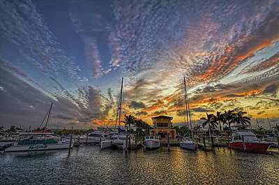 Photograph - Marina Sunset by Island Photos